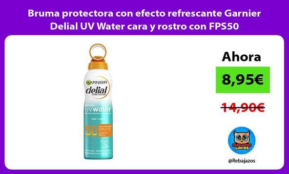 Bruma protectora con efecto refrescante Garnier Delial UV Water cara y rostro con FPS50