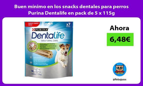 Buen mínimo en los snacks dentales para perros Purina Dentalife en pack de 5 x 115g