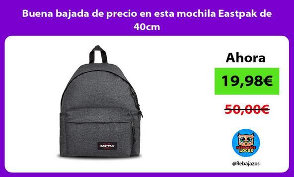 Buena bajada de precio en esta mochila Eastpak de 40cm