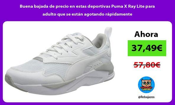 Buena bajada de precio en estas deportivas Puma X Ray Lite para adulto que se están agotando rápidamente