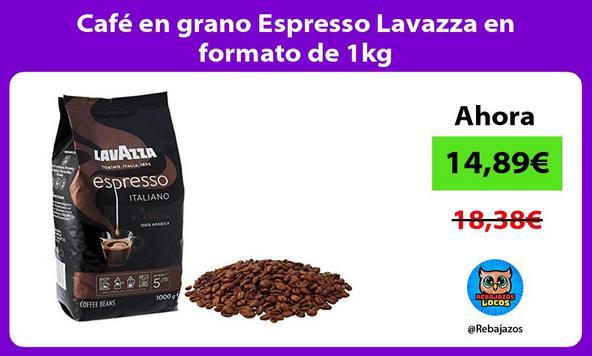 Café en grano Espresso Lavazza en formato de 1kg