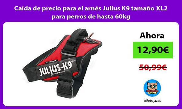Caída de precio para el arnés Julius K9 tamaño XL2 para perros de hasta 60kg