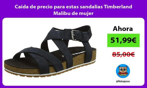 Caída de precio para estas sandalias Timberland Malibu de mujer