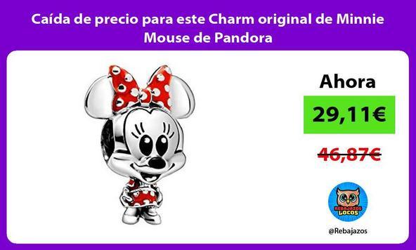 Caída de precio para este Charm original de Minnie Mouse de Pandora