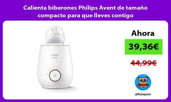 Calienta biberones Philips Avent de tamaño compacto para que lleves contigo