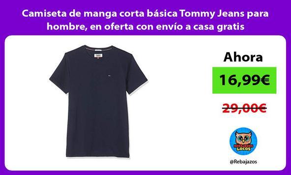 Camiseta de manga corta básica Tommy Jeans para hombre, en oferta con envío a casa gratis