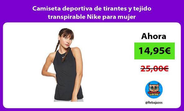 Camiseta deportiva de tirantes y tejido transpirable Nike para mujer