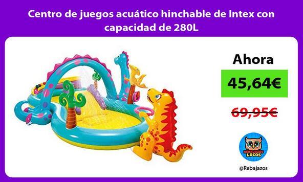 Centro de juegos acuático hinchable de Intex con capacidad de 280L