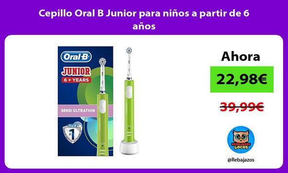 Cepillo Oral B Junior para niños a partir de 6 años