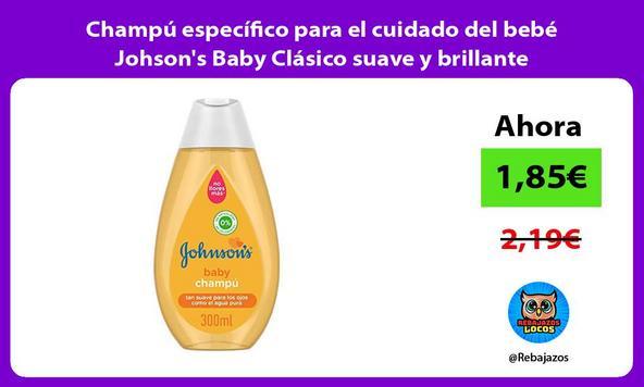 Champú específico para el cuidado del bebé Johson's Baby Clásico suave y brillante