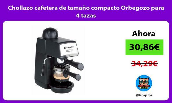 Chollazo cafetera de tamaño compacto Orbegozo para 4 tazas
