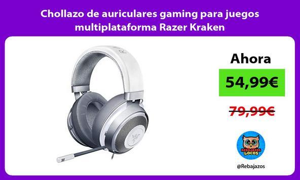 Chollazo de auriculares gaming para juegos multiplataforma Razer Kraken/