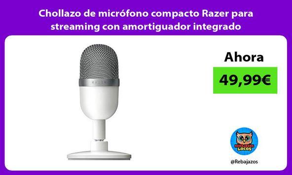 Chollazo de micrófono compacto Razer para streaming con amortiguador integrado