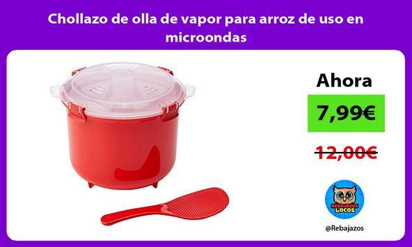 Chollazo de olla de vapor para arroz de uso en microondas