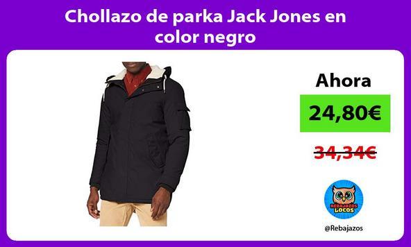 Chollazo de parka Jack Jones en color negro