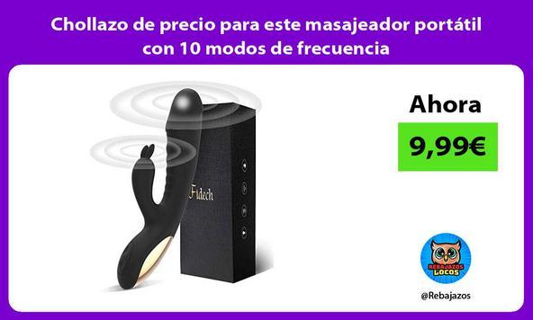 Chollazo de precio para este masajeador portátil con 10 modos de frecuencia