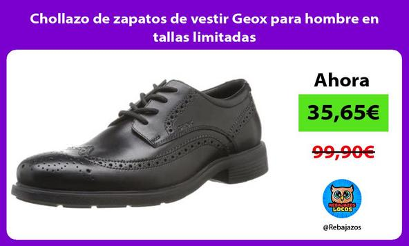 Chollazo de zapatos de vestir Geox para hombre en tallas limitadas