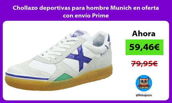 Chollazo deportivas para hombre Munich en oferta con envío Prime