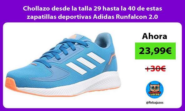 Chollazo desde la talla 29 hasta la 40 de estas zapatillas deportivas Adidas Runfalcon 2.0