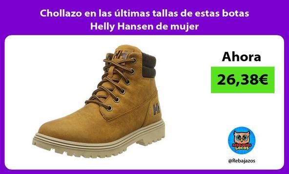 Chollazo en las últimas tallas de estas botas Helly Hansen de mujer