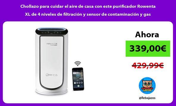Chollazo para cuidar el aire de casa con este purificador Rowenta XL de 4 niveles de filtración y sensor de contaminación y gas