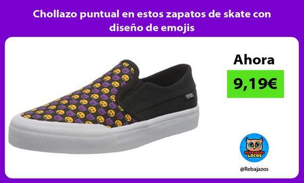 Chollazo puntual en estos zapatos de skate con diseño de emojis