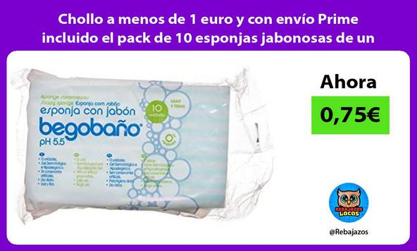 Chollo a menos de 1 euro y con envío Prime incluido el pack de 10 esponjas jabonosas de un uso
