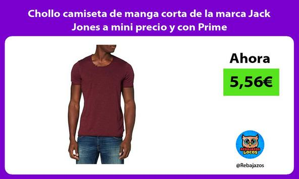 Chollo camiseta de manga corta de la marca Jack Jones a mini precio y con Prime