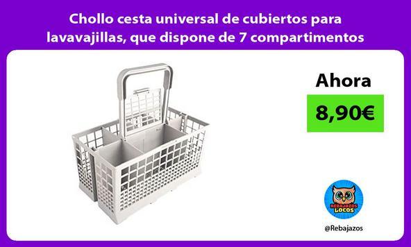 Chollo cesta universal de cubiertos para lavavajillas, que dispone de 7 compartimentos