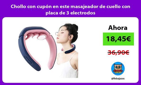 Chollo con cupón en este masajeador de cuello con placa de 3 electrodos
