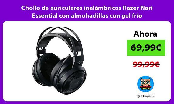 Chollo de auriculares inalámbricos Razer Nari Essential con almohadillas con gel frío