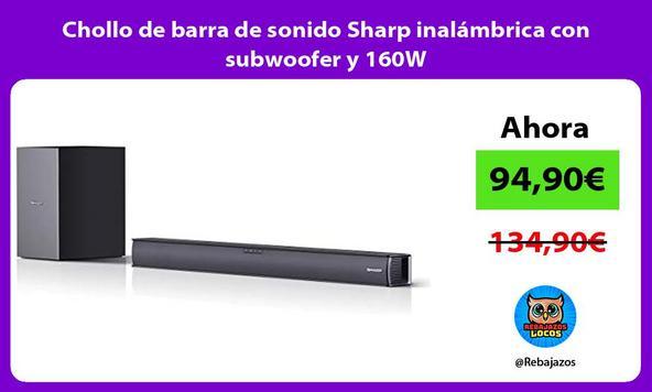 Chollo de barra de sonido Sharp inalámbrica con subwoofer y 160W