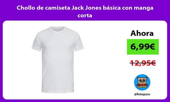 Chollo de camiseta Jack Jones básica con manga corta