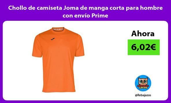 Chollo de camiseta Joma de manga corta para hombre con envío Prime