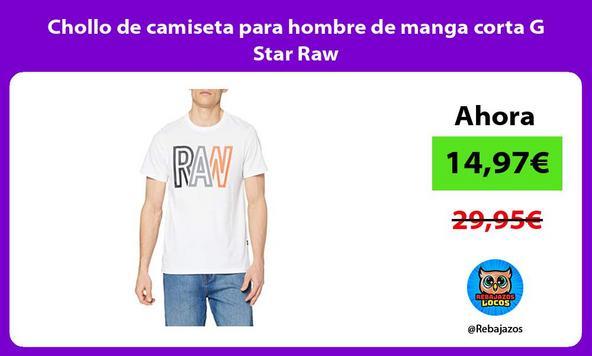 Chollo de camiseta para hombre de manga corta G Star Raw