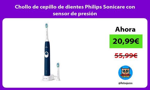 Chollo de cepillo de dientes Philips Sonicare con sensor de presión