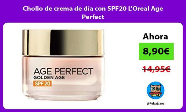 Chollo de crema de día con SPF20 L'Oreal Age Perfect