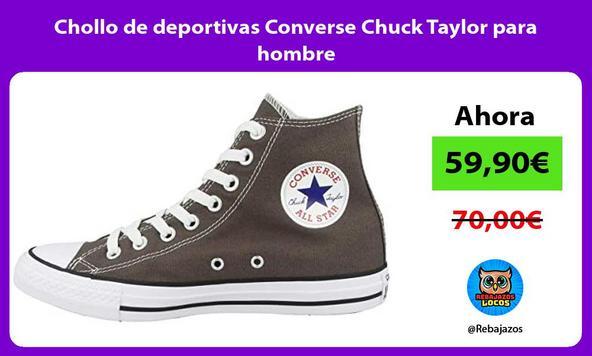 Chollo de deportivas Converse Chuck Taylor para hombre