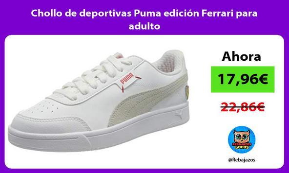 Chollo de deportivas Puma edición Ferrari para adulto/