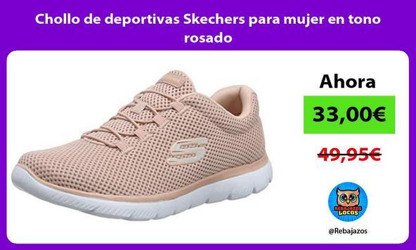 Chollo de deportivas Skechers para mujer en tono rosado
