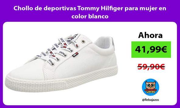Chollo de deportivas Tommy Hilfiger para mujer en color blanco