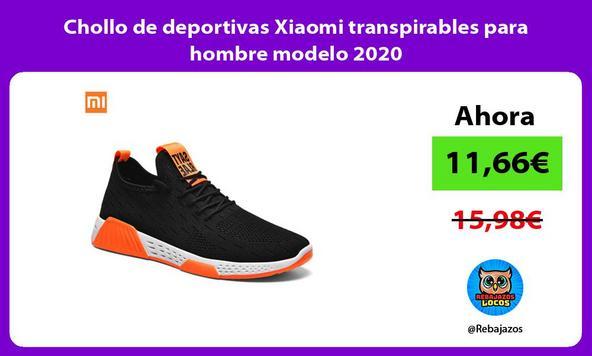 Chollo de deportivas Xiaomi transpirables para hombre modelo 2020