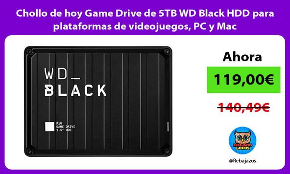 Chollo de hoy Game Drive de 5TB WD Black HDD para plataformas de videojuegos, PC y Mac