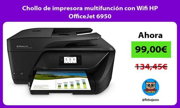 Chollo de impresora multifunción con Wifi HP OfficeJet 6950