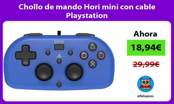 Chollo de mando Hori mini con cable Playstation