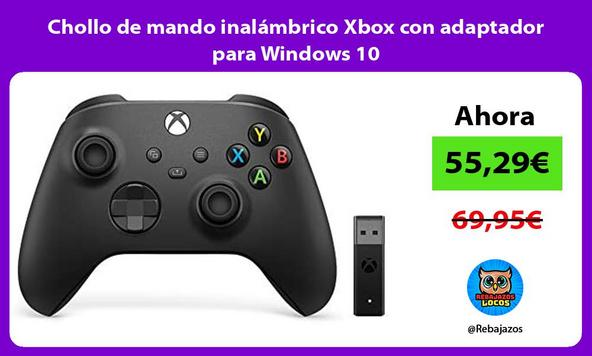 Chollo de mando inalámbrico Xbox con adaptador para Windows 10