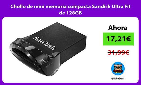 Chollo de mini memoria compacta Sandisk Ultra Fit de 128GB