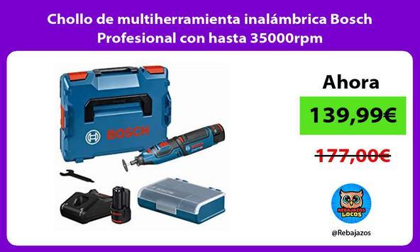 Chollo de multiherramienta inalámbrica Bosch Profesional con hasta 35000rpm