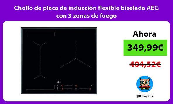 Chollo de placa de inducción flexible biselada AEG con 3 zonas de fuego