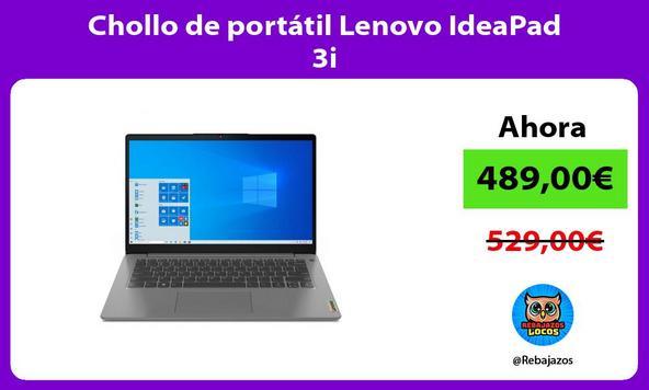 Chollo de portátil Lenovo IdeaPad 3i